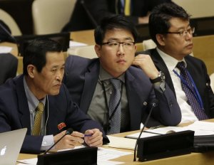 NKOREA diplomats at UN Oct 2014
