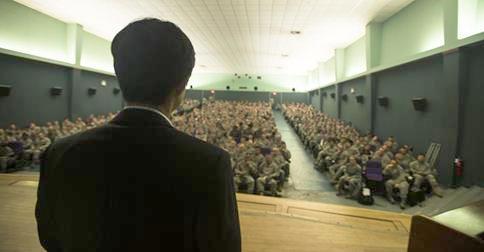 Shin at US Air Base in South Korea